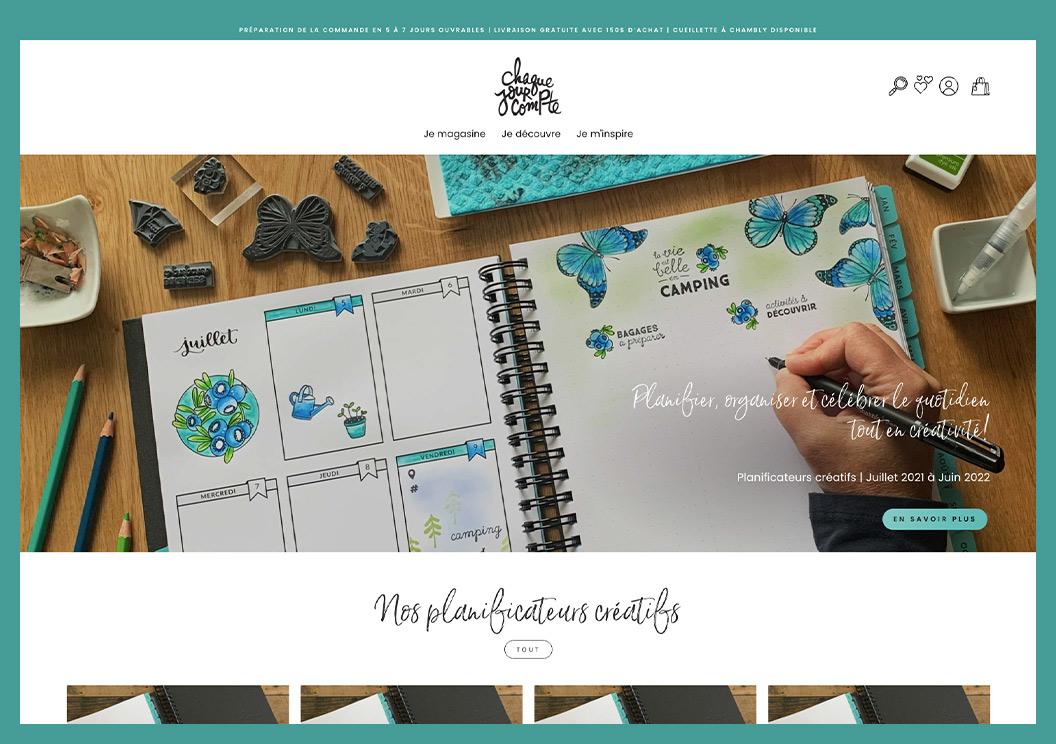 site web Shopify chaque jour compte
